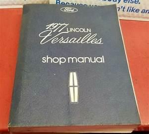Ford Dealership 1977 Lincoln Versailles Shop Manual   Electrical Diagram