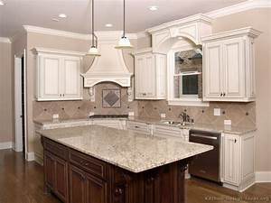 pictures of kitchens traditional two tone kitchen With widen your kitchen with a kitchen island