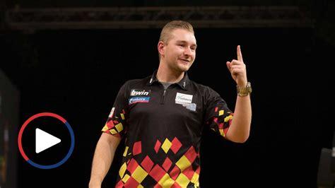 dimitri van den bergh hits   darter   grand slam  darts sporting life