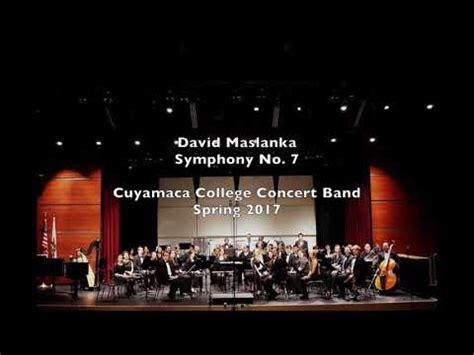 Symphony No 7 By David Maslanka Youtube