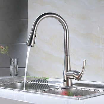 motion sensor kitchen sink faucet flow motion activated pull kitchen faucet 9313