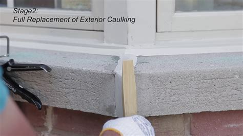 Caulking Window Sills by Exterior Window Caulking And Wood Refurbishing With Home