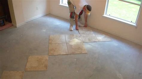 how to tile and layout floor tile part 4 of 9