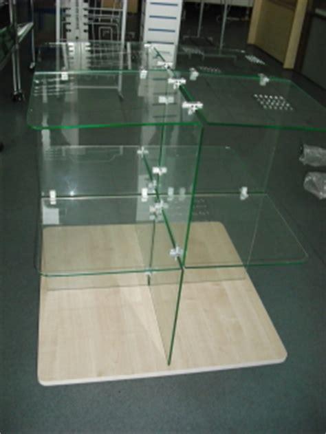 glass cube display unit  bjk shop display equipment