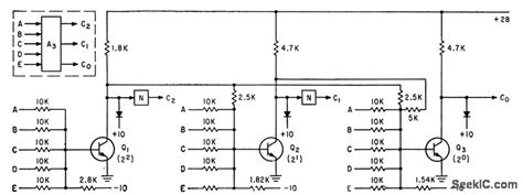Three Stage Encoder Basic Circuit Diagram