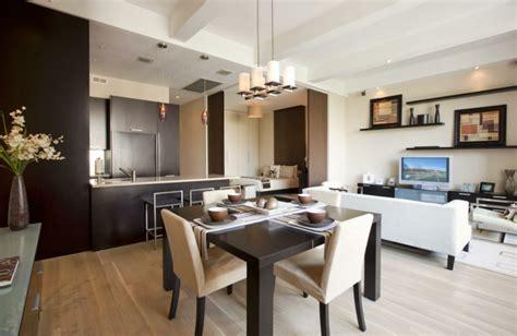 küche und wohnzimmer in einem kleinen raum einrichtungsideen kleine r 228 ume 2 zimmer in 1