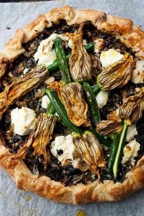 corsican pie  zucchini flowers recipe sbs food