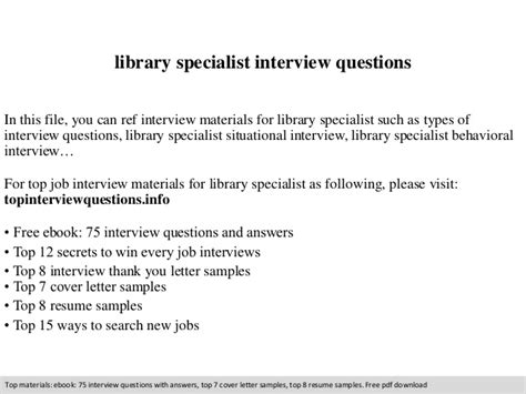 Library Specialist Interview Questions