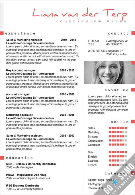 stand out from other candidates creative cv template in