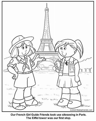 Coloring French Guide France Makingfriends Scout Guides