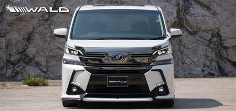 toyota international wald international 39 s exterior kit for the toyota vellfire