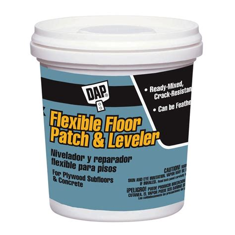 dap gray 128 oz flexible floor patch and leveler 59190