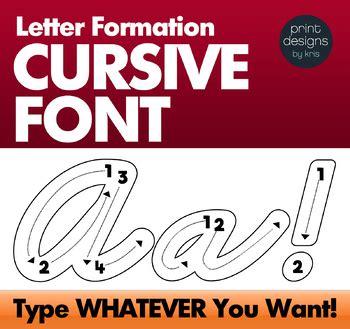 cursive letter trace fun font letter formation font