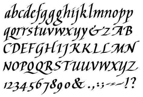 calligraphy popular calligraphy alphabet types