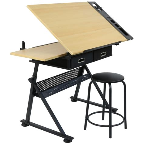 hartleys drawing table   drawers drafting bench