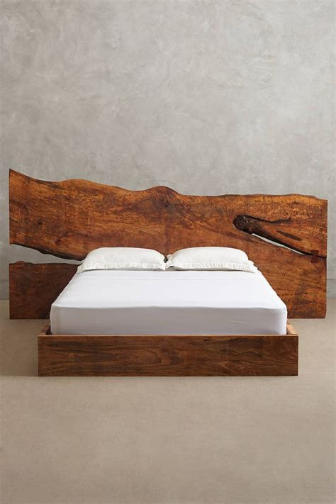 edge wood bed anthropologiecom wood beds wood