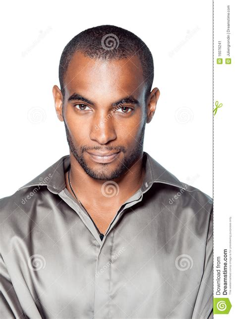 handsome young black man stock image image male background
