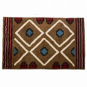 Pecos southwestern bath mat cabin place for Cabin bathroom rugs