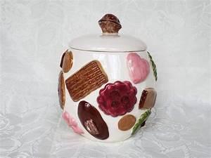 Vintage, Cookies, All, Over, Walnut, Lid, Cookie, Jar, Aunt, Gladys, U0026, 39, Attic, By, Serstyle