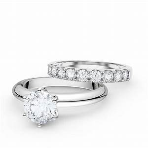 unity 15ct white sapphire platinum plated silver promise With white silver wedding rings