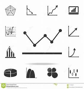Line Graph Type Chart Icon  Detailed Set Of Trend Diagram