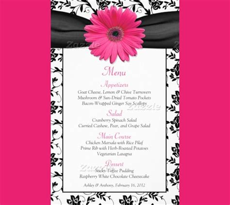 birthday menu templates psd docs pages ai