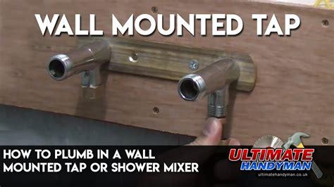 plumb   wall mounted tap  shower mixer youtube