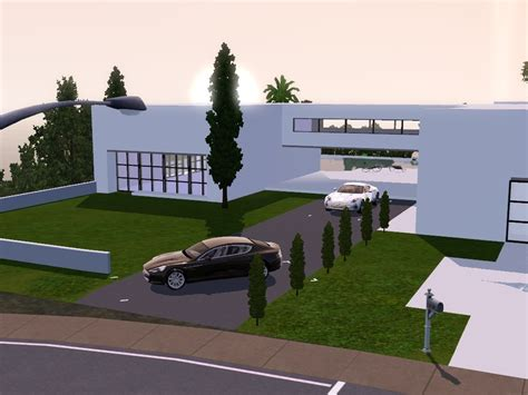 exxlusive modern house sims 3