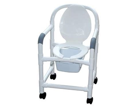 Bedside Commode Chair With Wheels by Mjm 18 Quot Bedside Commode With Standard Casters Save At