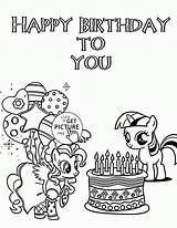 Coloring Pony Birthday Happy Pages Printable Printables Card Sheets Fun Wuppsy Holiday Disney Colouring Princess Holidays Party Everfreecoloring Balloons Flower sketch template