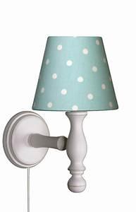 Wandlampe Kinderzimmer Ohne Kabel : wandlampe tupfen t rkis wei wandlampen im kinderlampenland kaufen ~ Frokenaadalensverden.com Haus und Dekorationen