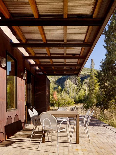 aspen creek residence modern patio salt lake city  carney logan burke architects
