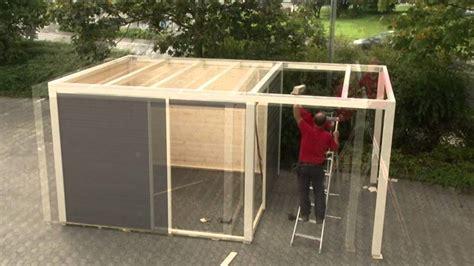 Karibu Gartenhaus Cubus  Montage Youtube