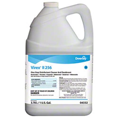 diversey virex 174 ii 256 disinfectant cleaner gal economical janitorial paper supplies llc