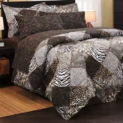 leopard zebra safari animal print 8pc king sz comforter sheet set