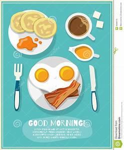 Breakfast Icon Poster Vector Illustration | CartoonDealer ...