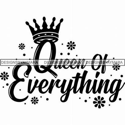 Svg Queen Melanin Quotes Nubian Silhouette Cricut