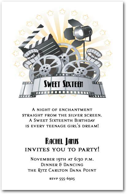 film  clapboard invitations