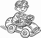 Coloring Toy Driving Boy Pages Clipart Drawing Line Colouring Clip Cartoon Drive Printable Children Boys Vector Getdrawings Popular sketch template