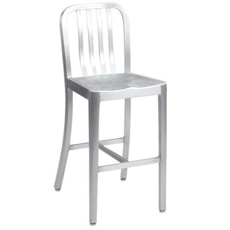 brushed aluminum navy bar stool at modaseating