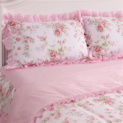 shabby chic bedding king king queen full twin princess shabby floral chic pink duvet comforter cover set ebay