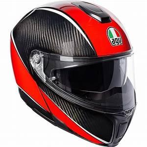 Casque Modulable Carbone : casque agv sportmodula aero carbon rouge equipement pilote pour moto et scooter japauto ~ Medecine-chirurgie-esthetiques.com Avis de Voitures