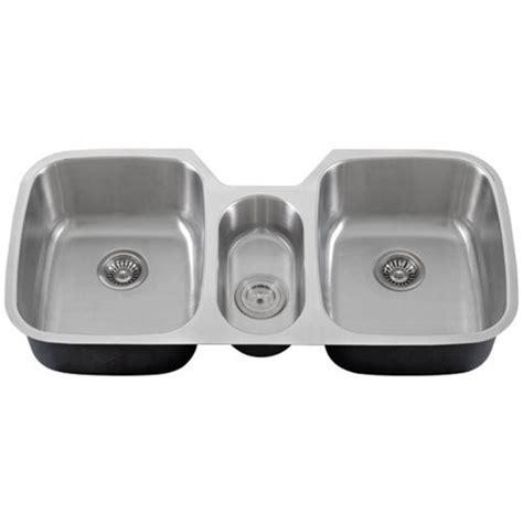 3 bowl kitchen sink undermount 43 inch stainless steel undermount bowl kitchen 7311