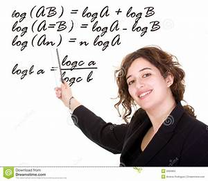 Female Maths Teacher Stock Photo  Image Of Clever  Algebra