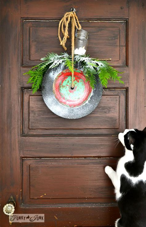 junk wheel christmas wreaths instantlyfunky junk