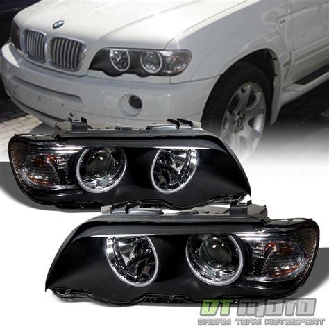 Black 20002003 Bmw E53 X5 Led Halo Projector Headlights
