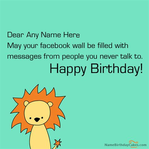 write   facebook funny birthday  picture