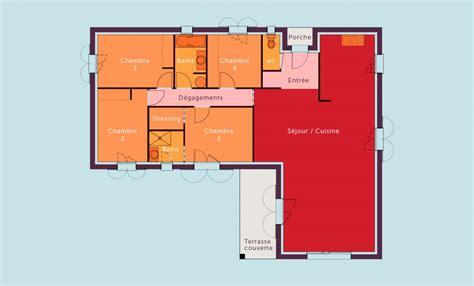 plan de maison plain pied 4 chambres gratuit plan maison 4 chambres plain pied gratuit plan maison m