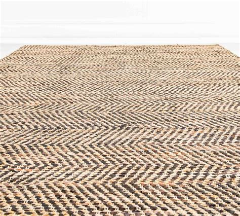 tappeti juta tappeto in juta e pelle marrone 200 x 300 cm duzzle