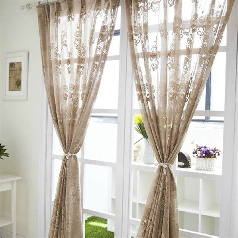 images of brown curtains and sheers best image